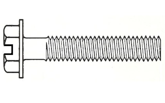 hex washer head slotted